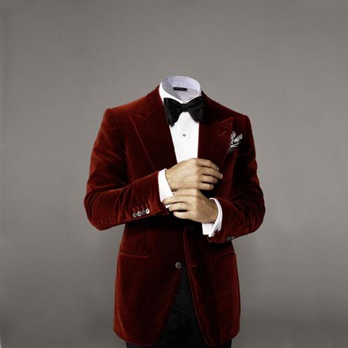 В красном пиджаке шаблон psd мужской в